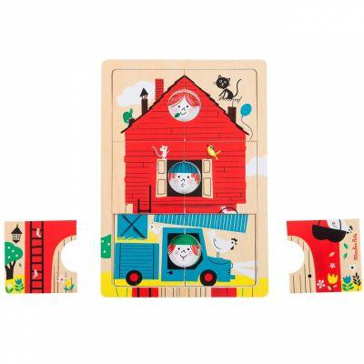 Puzzle à étages Les Bambins (18 pièces)  par Moulin Roty