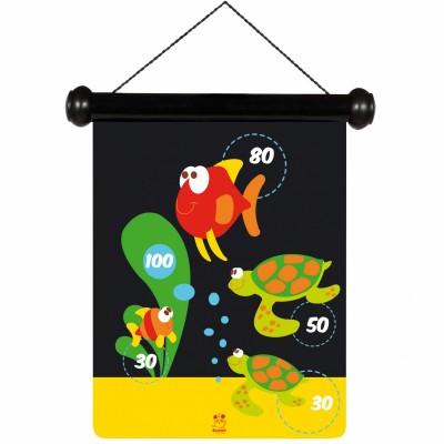 Jeu de fléchettes magnétiques vie marine Scratch