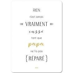 Carte citation Papa (15 x 21 cm)