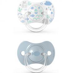 Lot de 2 sucettes symétriques SX PRO Memories bleu (0-6 mois)