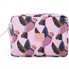 Trousse de toilette oiseau Pink birds