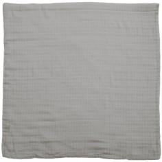 Drap de berceau en coton bio gris (80 x 80 cm)
