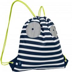 Sac à ficelles marin Little Monsters Bouncing Bob bleu