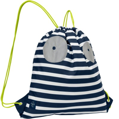 Sac à ficelles marin Little Monsters Bouncing Bob bleu  par Lässig