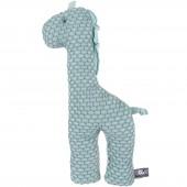 Peluche girafe Sun vert menthe et gris vert (40 cm) - Baby's Only