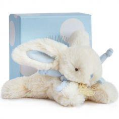 Coffret peluche lapin bleu Bonbon (16 cm)