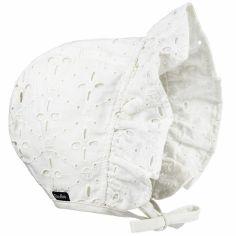 Chapeau béguin broderie anglaise Embroidery (6-12 mois)
