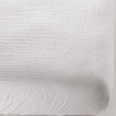 Drap housse en coton bio froissé Blanc (70 x 140 cm)