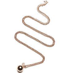 Bola sur chaîne Jasseron (métal rose doré)