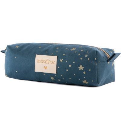 Trousse scolaire Too cool Gold Stella bleue  par Nobodinoz