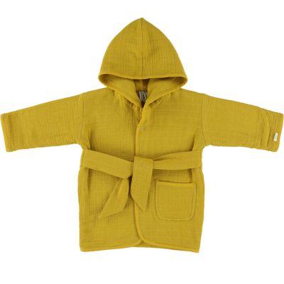 Peignoir Bliss jaune moutarde (1-2 ans) Les Rêves d'Anaïs