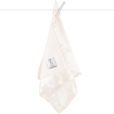 Doudou couverture Bella velvet crème (40 x 40 cm) Little giraffe
