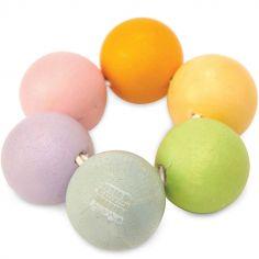 Hochet perles en bois Petilou
