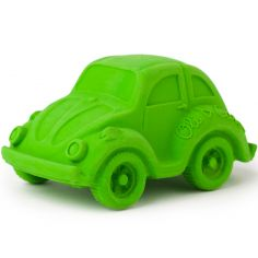 Petite voiture Coccinelle latex d'hévéa verte