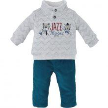 Ensemble pantalon 2 pièces Jazz Music turquoise (9 mois)  par Sucre d'orge