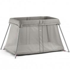 Pack lit parapluie Easy Go beige et drap housse blanc pur organic