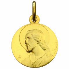 Médaille ronde Christ 20 mm (or jaune 750°)