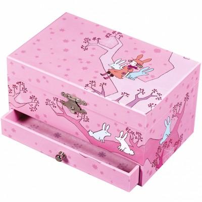 bo te bijoux musicale fille sur arbre rose trousselier. Black Bedroom Furniture Sets. Home Design Ideas