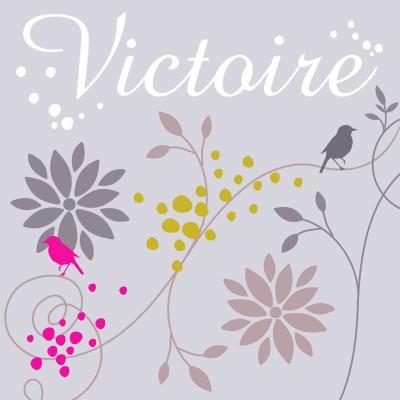 Tableau fleurs Victoire personnalisable (20 x 20 cm)  par Home Corner