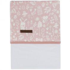 Drap de lit bébé Adventure pink (110 x 140 cm)