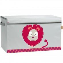 Coffre à jouets Wildlife Lion  par Lässig