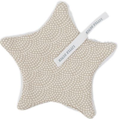 Doudou attache sucette Beige waves (15 x 15 cm) Little Dutch