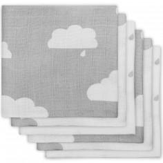 Lot de 6 langes nuage gris (70 x 70 cm)