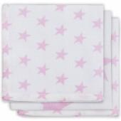 Lot de 3 essuie-mains hydrophiles Little star étoile rose - Jollein