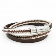Bracelet Le Marin marron (acier)