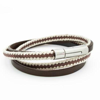 Bracelet Le Marin marron (acier)  par Petits trésors