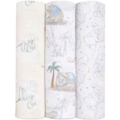 Lot de 3 maxi langes My Darling Dumbo (120 x 120 cm)  par aden + anais