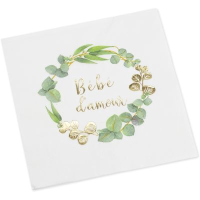 Lot de 16 serviettes Bébé d'amour
