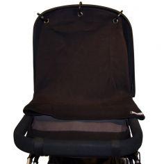 Protection pour poussette Baby Peace coton bio Uni noir