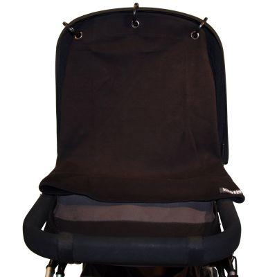 Protection pour poussette Baby Peace coton bio Uni noir  par Kurtis