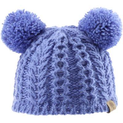 Bonnet en tricot 2 pompons bleu (0-6 mois)  par Bedford Road