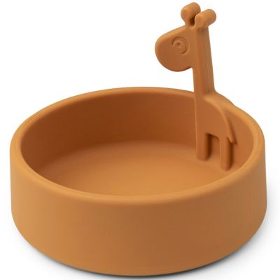 Bol en silicone Raffi moutarde Peekaboo  par Done by Deer