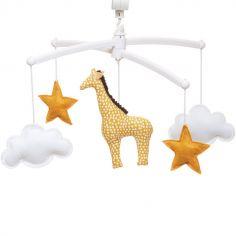 Mobile musical girafe jaune (mélodie au choix)