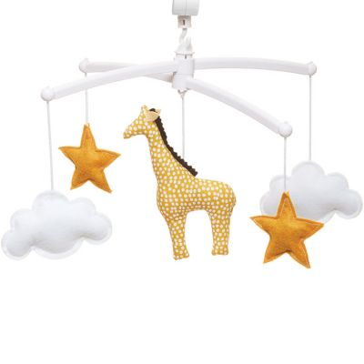 Mobile musical girafe jaune (mélodie au choix)  par Pouce et Lina