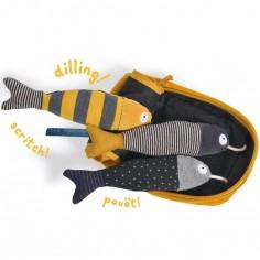 Jouet d'activités sardines Les Moustaches