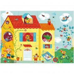 Puzzle géant optique La Maison (12 pièces)