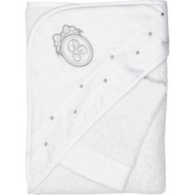 Cape de bain + gant de toilette blancs Pur  par Nougatine