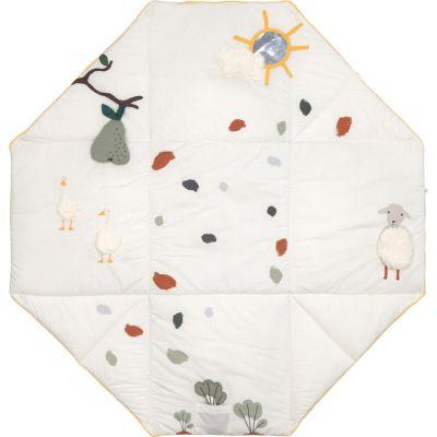 Tapis d´éveil 2 en 1 en coton bio Tiny Farmer (120 x 120 cm)