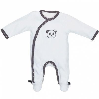 Pyjama chaud velours croisé panda Chao Chao (1 mois)  par Sauthon