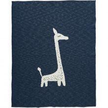 Couverture en coton bio girafe bleu marine (100 x 150 cm)  par Fresk