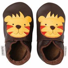 Chaussons bébé cuir Soft soles tigre (9-15 mois)