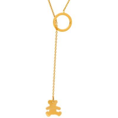 Collier ourson cravate 45 cm (or jaune 375°)  par LuluCastagnette