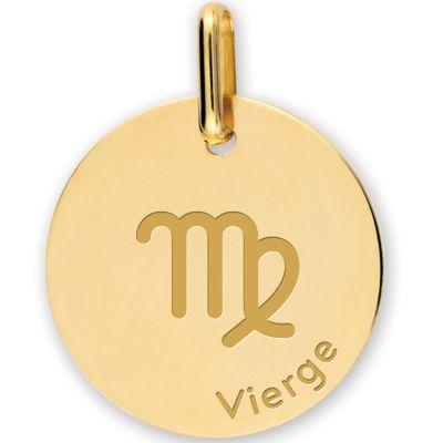 Médaille zodiaque Vierge personnalisable (or jaune 375°)  par Lucas Lucor
