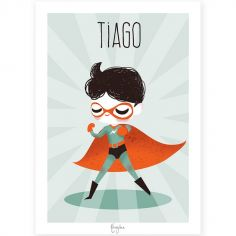 Affiche A4 Super-héros (personnalisable)
