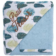 Cape de bain + gant Jungle Petit trésor