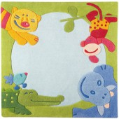 Tapis bébé Jungle (140cm x 140cm) - Haba
